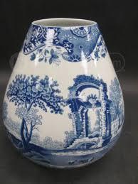 Spode Vases Blue White Spode Vase Italian Spode Design Vessels Art