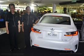 lexus rc 350 singapore lexus malaysia welcomes the new rc 350 and rc f coupe