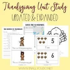 thanksgiving unit study updated expanded