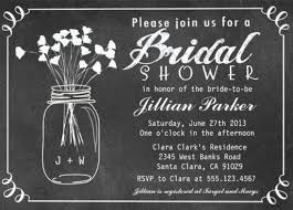 Mason Jar Bridal Shower Invitations Bridal Shower Invitations Perfect For The New Bride To Be