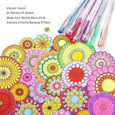 Pretty Colors Amazon Com Gelmushta Gel Pens 120 Unique Colors No Duplicates