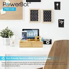charging station organizer powerbot pb5100 40watt 8amp 5 port rapid universal charging