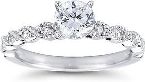 milgrain engagement ring pave engagement ring w milgrain us3052