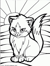 free coloring page cat