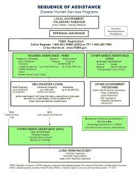 sequence of assistance disaster human services programs