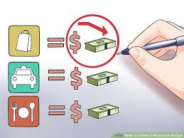 how to create a realistic household budget money matters how to create a household budget with exles wikihow