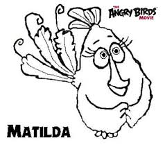 angry birds movie coloring pages matilda angrybirdstiff
