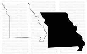 Missouri State Map Missouri State Map Svg Png Jpg Vector Graphic Clip Art Missouri