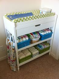 baby changing table basket awesome organization of cloth diaper changing table some great ideas