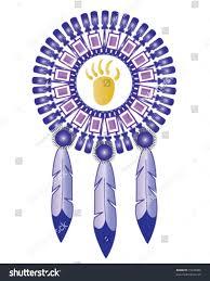 vector native american indian medicine shield stock vector