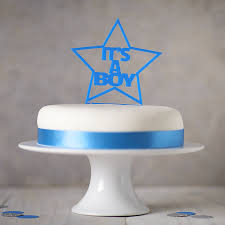 gender reveal cake toppers it s a boy gender reveal cake topper by