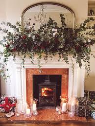 best 25 christmas fireplace garland ideas on pinterest