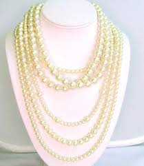 multi pearl necklace images Multi strand pearl necklace retro kehinde 39 s jpg