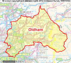 map of oldham map uk oldham major tourist attractions maps