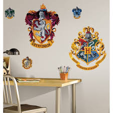 giant hogwarts crests wall decals harry potter stickers kids giant hogwarts crests wall decals harry potter stickers kids bedroom decor ebay