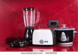 Small Red Kitchen Appliances - kitchen appliances stock images royalty free images u0026 vectors