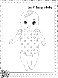 baby alive coloring pages getcoloringpages com