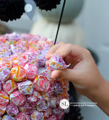 cakes candy and flowers dum dum lollipop cake an allergy free candy display