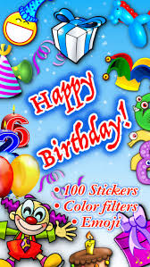 birthday stickers happy birthday stickers by ghislain fortin