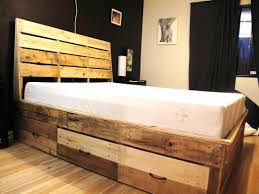 upholstered storage headboard pallet bed frame with storage diy lift up canada frames drawers