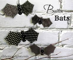 halloween button bats
