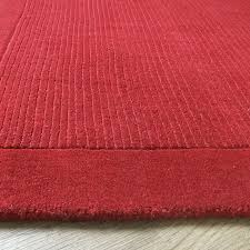 york poppy rug plain red wool rugs from only 33