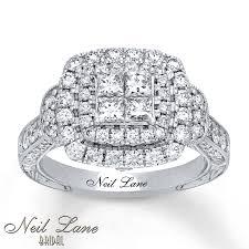 Neil Lane Wedding Rings by Jared Neil Lane Engagement Ring 1 5 8 Ct Tw Diamonds 14k White Gold