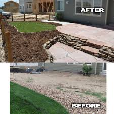 tiered yard landscaping yard privacy before and after