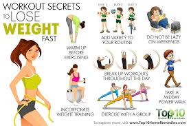 lose weight programs gym 10 workout secrets to lose weight fast top 10 home remedies