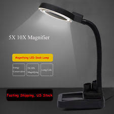 10x magnifying glass with led light 5x 10x desk table l magnifier magnifying light glass led cl