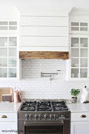 Range Hood Vent Ten June Our Farmhouse Kitchen A Lived In Tour Wood Trim Of