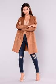 suede jacket camel