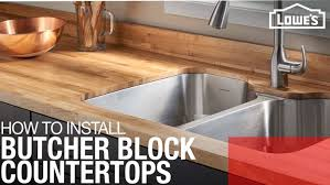 what is the best countertop to put in a kitchen how to install a butcher block countertop
