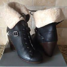 ugg womens mackie boots black ugg australia high 3 in and up lace up boots for ebay