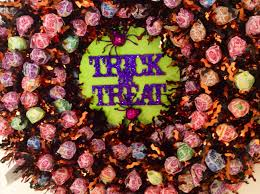 Wreath Halloween Diy Halloween Candy Wreath Youtube