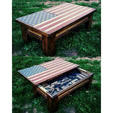 Diy Wooden Coffee Table Designs by American Flag Coffee Table Hidden Gun Case House Ideas