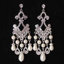 Sparkly Chandelier Earrings Best Chandelier Pearl Earrings For Wedding Products On Wanelo