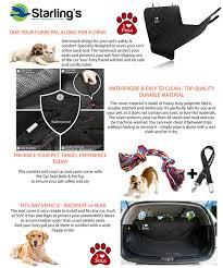 black friday amazon hammock amazon com starling u0027s luxury dog car seat covers for backseat