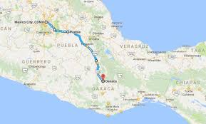 map of oaxaca mexico from puebla into the state of oaxaca boundless biker