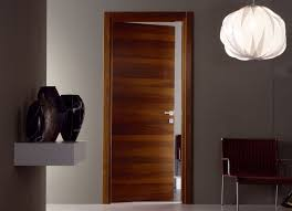 modern interior design with veneered doors with glass and without