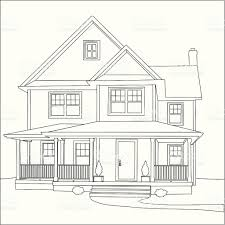Victorian House Plans Free Victorian House Stock Vector Art 165041172 Istock