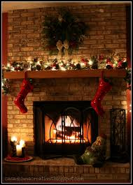 Christmas Deer Mantel Decorations by Interior Awesome Christmas Mantel Decoration With Red Christmas