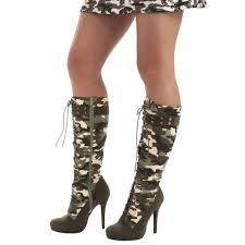 big w s boots camouflage lace up boots stiletto heels knee high boots with