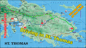 St Thomas Virgin Islands Map Driving In St Thomas 2015 Youtube