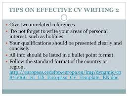 cv making format cv writing