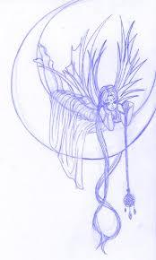 moon fairy tattoo sketch by lotuspie on deviantart