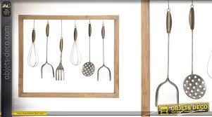cadre cuisine cadre déco murale en bois et métal cuisine d autrefois de 71 cm