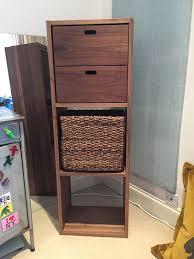 bureau muji muji walnut narrow 3 shelf in islington gumtree