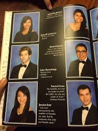 a yearbook on someone put luke hemmings in a yearbook this is