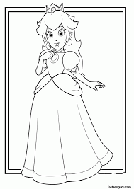 printable coloring pages mario coloring home